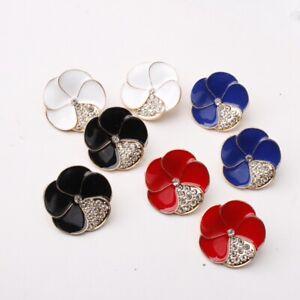 Fashion-Ear-Stud-Earrings-Crystal-Dangle-Metal-Flower-Women-Jewelry-Accessories