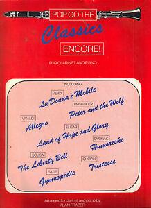 Audacieux Pop Goes The Classics-encore-clarinet Solos With Piano Accompaniment-afficher Le Titre D'origine Design Professionnel