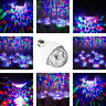 E27 Crystal Ball Automatic Rotating Disco Lights Stage DJ Party Lamp RGB Color