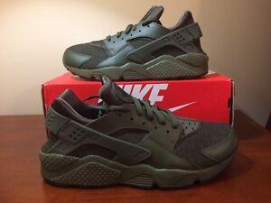 83e30879737e Nike Huarache Run Cargo Khaki Olive Black Hemp 318429-308 sz 9.5 QS ...