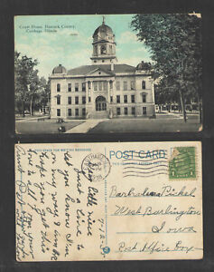 1938-COURT-HOUSE-HANCOCK-COUNTY-CARTHAGE-ILLINOIS-POSTCARD