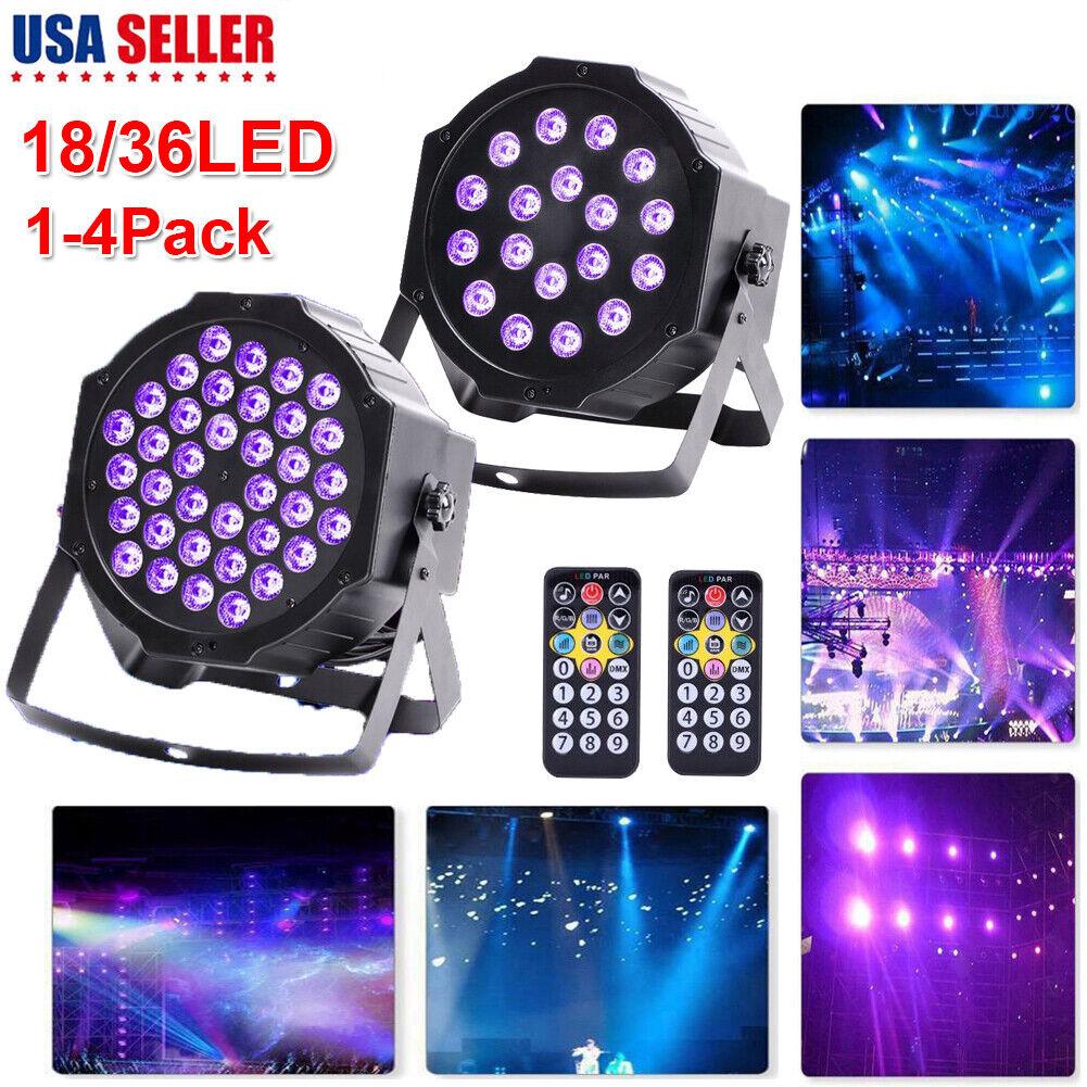 18 36 LED UV schwarz Light DMX Par Stage Lighting Bar DJ Light Show Party W Remote