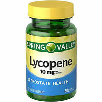 Spring Valley Lycopene Softgels Pills 10mg 60 Count