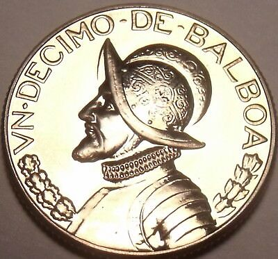 1969 Rare Proof~only 14,000 Minted Strong Resistance To Heat And Hard Wearing Central America Panama 1/10th Balboa
