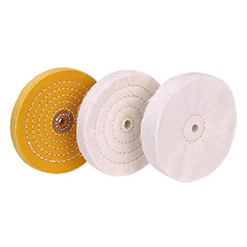3Pcs 6Inch Mirror Polishing Buffing Wheel Set Cotton Wheel For Bench Grinder