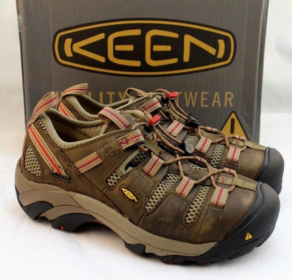 NWB KEEN Dimensione 6.5 W Atlanta Cool Marronee Steel Toe Hiking donna's scarpe Retail  135