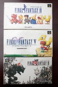 Super-Famicom-SFC-Final-Fantasy-IV-V-VI-FF-4-5-6-boxed-Japan-games-US-Seller