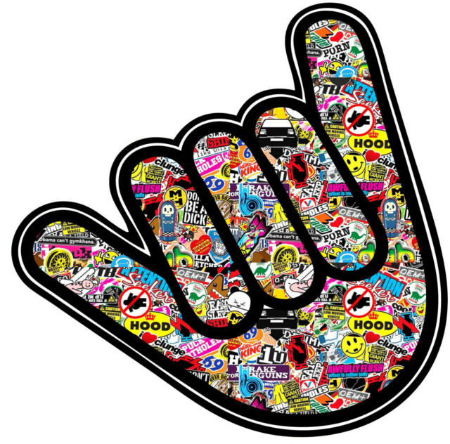 HANDWAVE/ SHOCKER STICKERBOMB GRAPHIC /STICKER(VW /DRIFT STYLE) X1