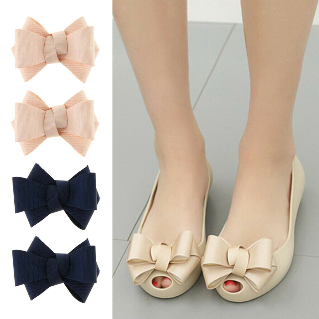 4 Packs Shoe Clips Womens Party Prom High Heel Shoe Charms Buckle 2 Colors