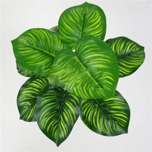 Artificial Plants Indoor Outdoor Fake Leaf Foliage Bush Home Office Vivid Decor