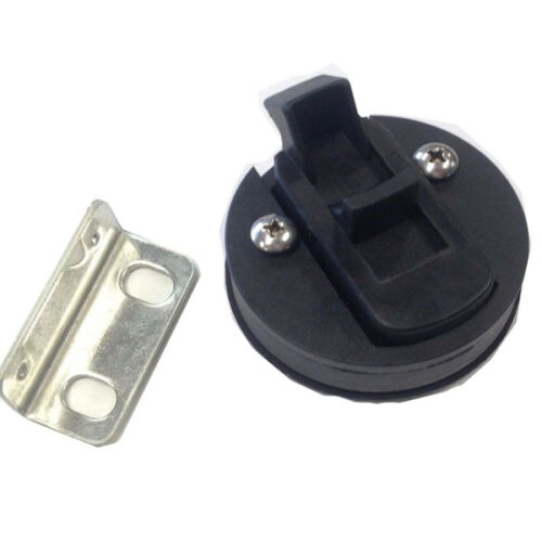 1PC Black Nylon Boat Deck Hatch 1//2/'/' Door 2/'/' Flush Pull Slam Latch Well Made