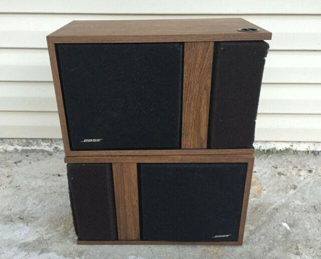 Vintage 1977 Bose Original 301 Pair of Speakers Set of 2 Direct Reflecting Brown