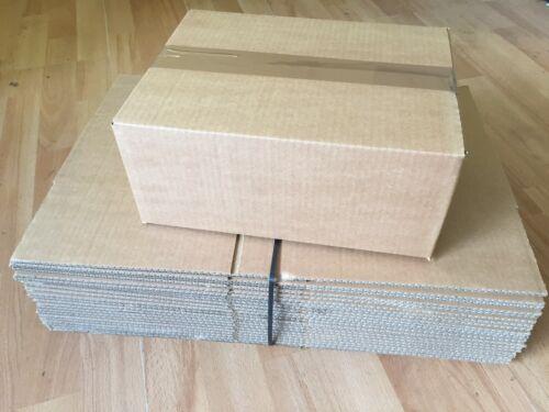 """75 Singolo Muro-Marrone Scatole di cartone 12 x 9 x 5/"""" RIF 31 x 23 x 13CM TH100"""