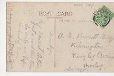 A. Barrett Esq., Kilvington, Ringley Avenue, Horley, Surrey 1917 Postcard, M034