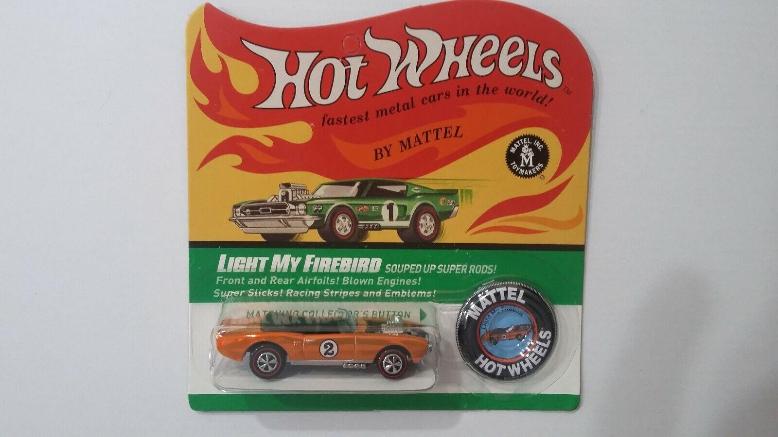 Hot Wheels RLC 2016 Spoilers  Light My Firebird & Button