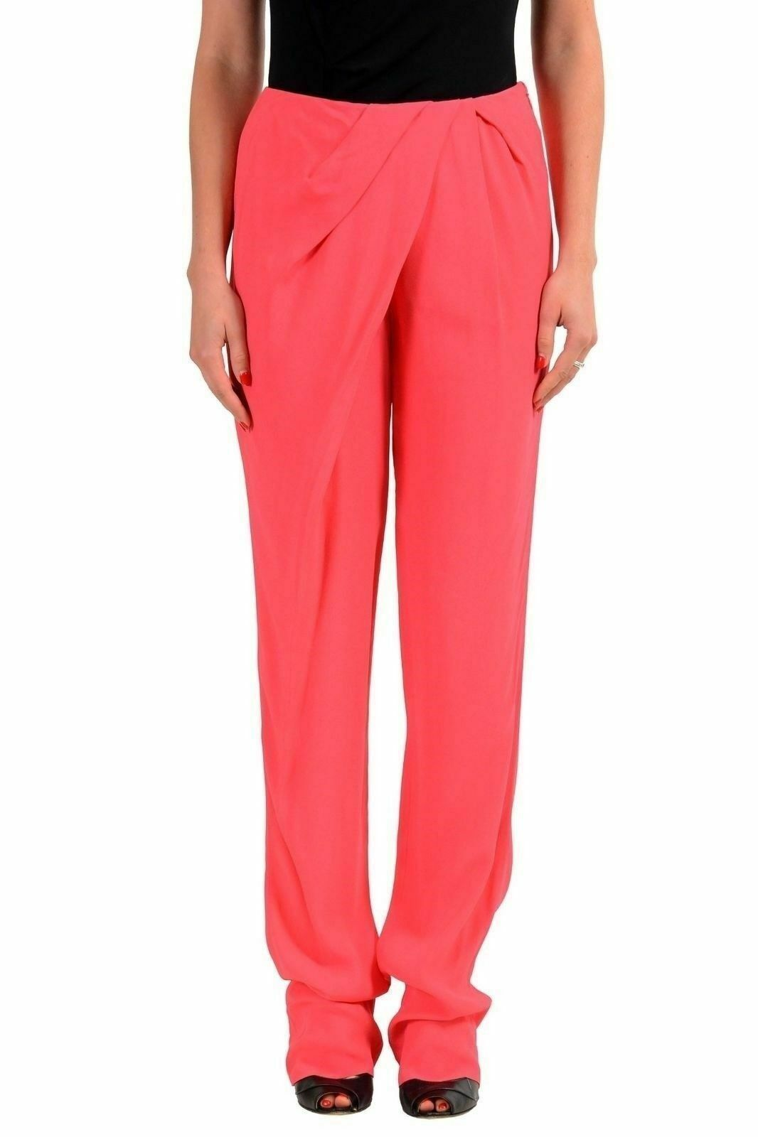 Viktor & Rolf Coral Red Women'S Casual Pants US S IT 40
