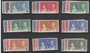 OMNIBUS-5883-1937-CORONATION-CROWN-COLONIES-COMPLETE-45-sets-of-3-u-m