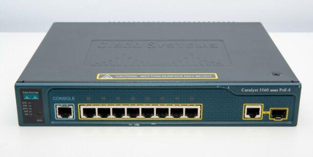Cisco - WS-C3560-8PC-S - Catalyst 3560 8 10/100 PoE V04