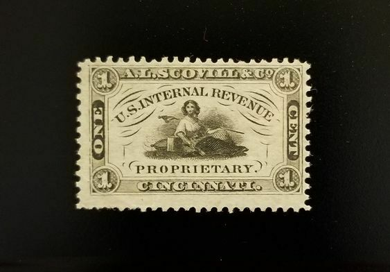 A.L. Scovill & Co. 1c USA Internal Revenue RS220a Priva