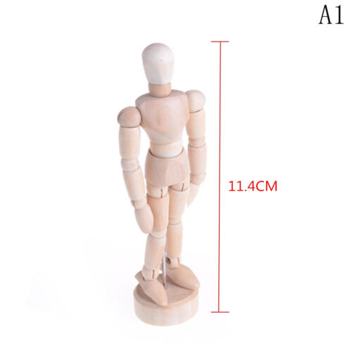 Wooden Human Mannequin Manikin Sketch Model Art Unisex Model new.
