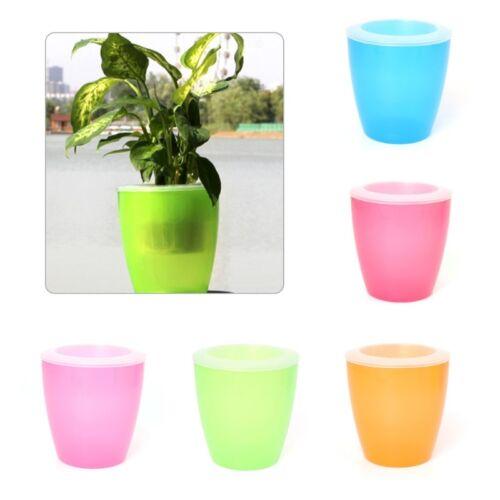 Auto arrosage Plante Pot De Fleur Plastique Plante Conteneur Maison Jardin Bureau Outil