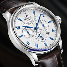 Parnis 42mm Miyota 9100 Automatic Movement Sapphire Glass Power Reserve Watch