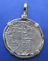 Atocha Shipwreck Carribean Pirate Treasure Coin In 14k Bezel Amazing Look-alike