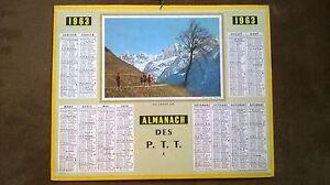 CALENDRIER-POSTAL-ALMANACH-DES-P-T-T-DE-1963-DE-LA-MARNE-COMPLET