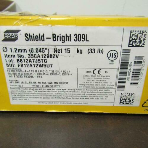 15KG//33LB  ESAB SHIELD BRIGHT 309L 35CA12982V 1.2MM STAINLESS STEEL WELDING WIRE