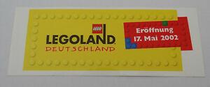 Fan-Aufkleber Legoland Germany Günzburg To Opening At 17. May 2002