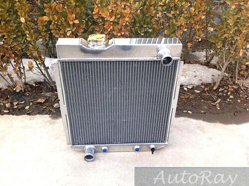 Aluminum Radiator for Ford Mustang V8 5L 302 351 390 428 429 1965 1966