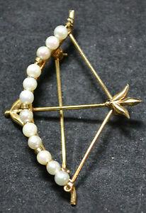 #3546 - Carl Art - 14k Gold & Pearl Pin