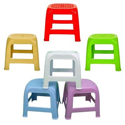 Quality Hobby Sturdy Plastic Stool Step Home Kitchen Bathroom in 3 Colours