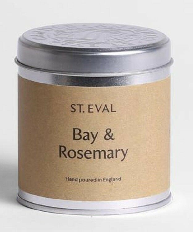FOUR St Eval  Bay & pinkmary  Scented Candle in a Tin. FOUR TINS