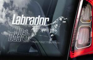 Labrador-a-Bordo-Coche-Ventana-Pegatina-Negro-Retriever-Perro-Firmar-Regalo