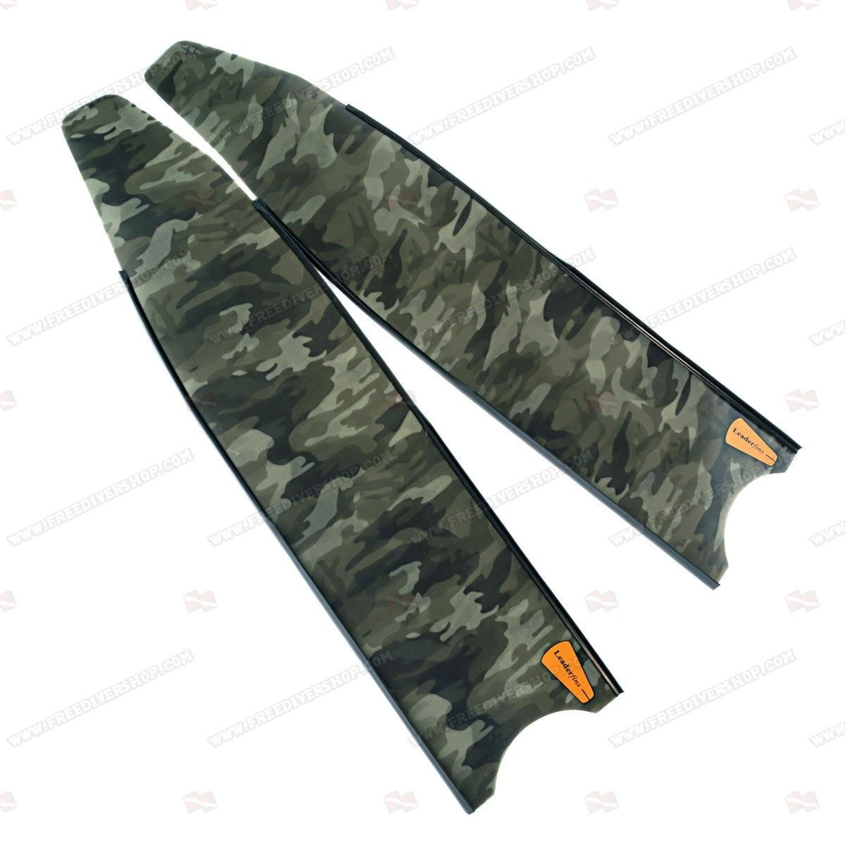 Leaderfins Green Camo Freediving  Spearfishing Blades (1 Pair   2 Blades)  up to 50% off