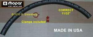 OEM-MOPAR-Power-Steering-RETURN-HOSE-Plymouth-Dodge-Chry-039-67-79-383-440-340-Hemi