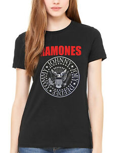 079288d3 Official Ramones Red Text Seal Logo T-Shirt Pet Semetary Poison ...