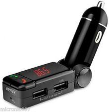 BLUETOOTH CAR ADAPTER WIRELESS FM TRANSMITTER DUAL USB CHARGER & DIGITAL DISPLAY