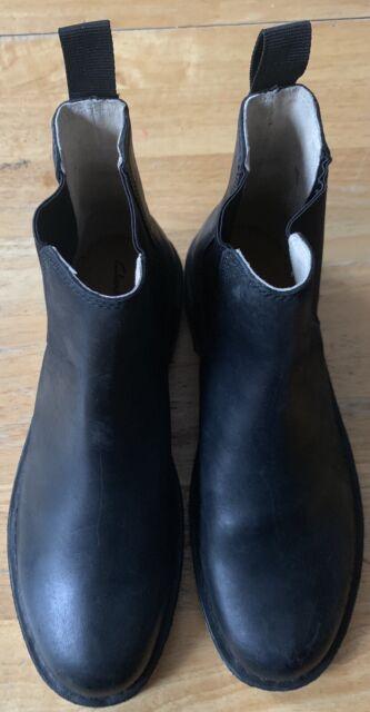 4828824bf68 Clarks Desert Peak Black Leather Chelsea Men's Boots 9.5