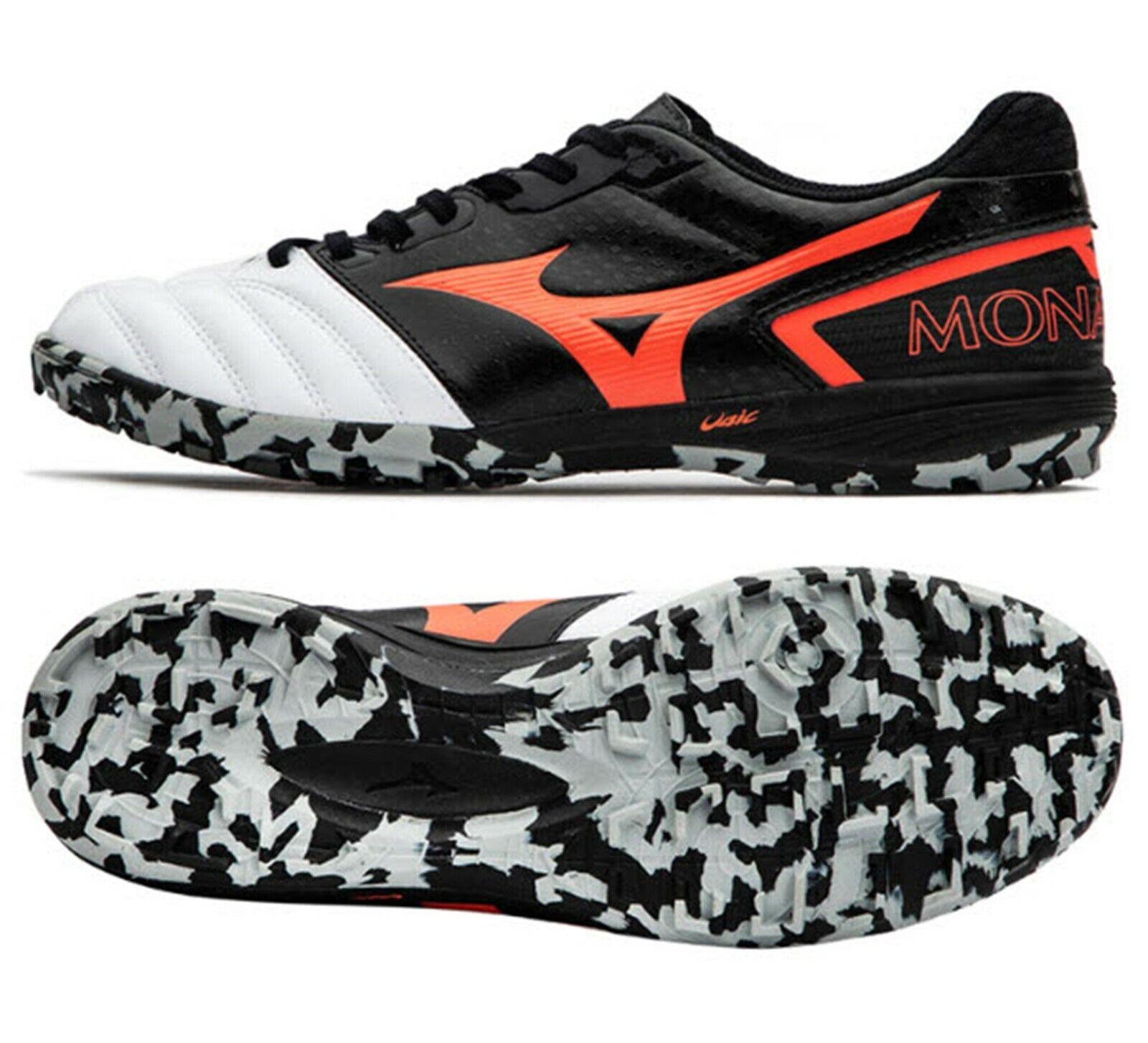Mizuno Hombre monarcida Sala Futsal fútbol Botines de HORQUILLA roscada Zapatos blancoos Spike Q1GB191161