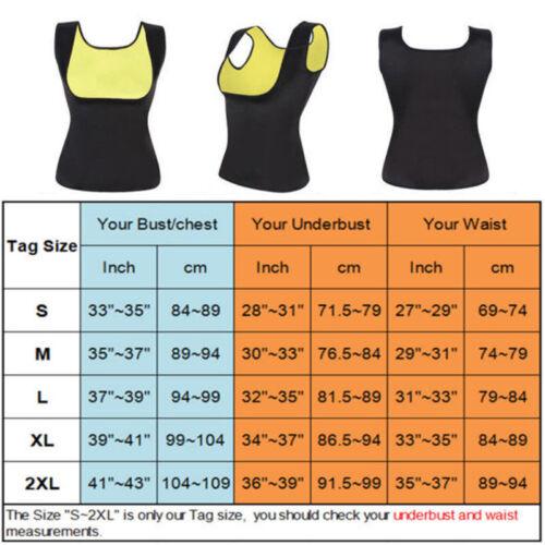 US Women Neoprene Waist Trainer Vest Corset Sweat Sauna Shaper Weight Loss Belt