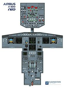 Cockpit-Flight-Deck-Training-Posters-25-100-Airbus-A320-NEO-from-29-95