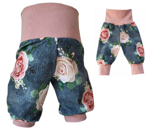 Pumphose Hose Baby Kind Mädchen Mitwachshose Jeanslook  Gr.56-104 Handmade