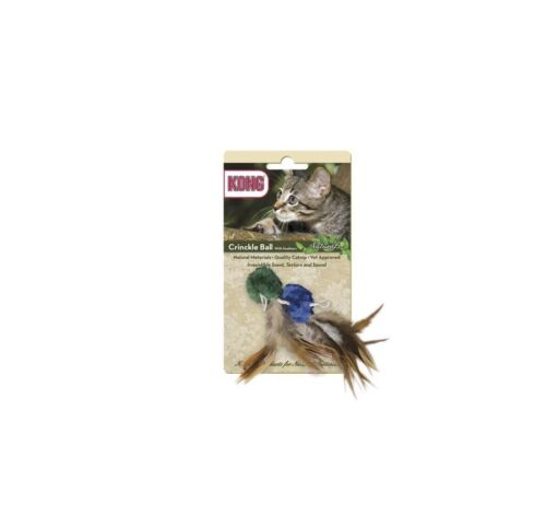 KONG NATURALS cat Crinkle Ball w Feather natural instincts of the indoor cat
