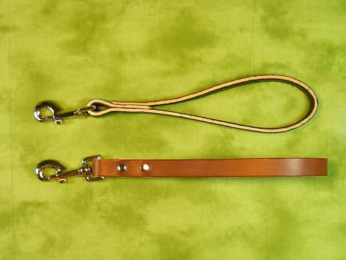 "12/"" leather TRAFFIC LEAD Dog Leash Large handle"