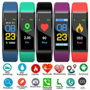 Smart Watch Wrist Wristband Bracelet Fitness Sport Tracker Heart Rate Monitor