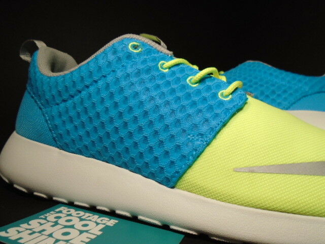 Nike ROSHE RUN ROSHERUN FB CURRENT BLUE CHROME LIME LIME LIME YELLOW WHITE 580573-401 10 a96b70
