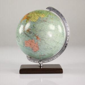 alter-Columbus-Schueler-Tisch-Globus-Welt-Kugel-14-cm-50er-Jahre