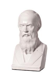Russischer Schriftsteller Fjodor Dostojewski Marmor Büste Statue Skulptur 14 cm